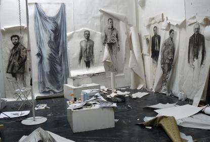 Ernest Pignon Ernest atelier2